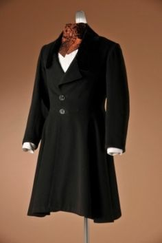 Frock coat with black velvet collar, c. 1850.