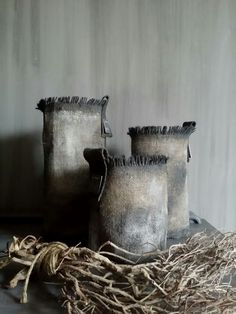 "Stoere jute windlichten made by ""de meidenmuts"""