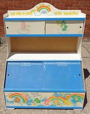 80s toy box with sliding chalkboard doors