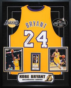 5554ab5851a9 Kobe Bryant - Signed Lakers NBA Basketball Jersey