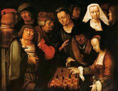 Lucasa van Leyden:  Courier Chess players.