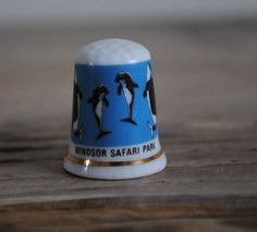 Vintage china thimble  Windsor Safari Park by TheVintageCoopUK