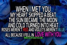 when i met u... I Fall In Love, Falling In Love, When I Met You, Skip Beat, You And I, Meet, Quotes, Life, Quotations