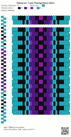 ASpinnerWeaver: How to Use the Pattern Editor Inkle Weaving Patterns, Loom Weaving, Loom Patterns, Turquoise And Purple, Yarn Colors, Inkle Loom, Card Weaving, Woven Scarves, Weaving Projects