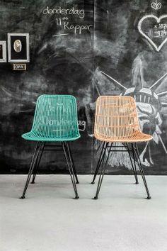 Products details - Meubels - rotan stoel zalmroze
