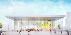 Concept for Aviapolis museum in Vantaa, Finland by helsinkizurich, exterior visualisation by obra Finland, Aviation, Louvre, Museum, Exterior, Concept, Architecture, Building, Travel