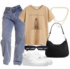 Tomboy Fashion, Teen Fashion Outfits, Retro Outfits, Look Fashion, Streetwear Fashion, Korean Fashion, Swaggy Outfits, Baddie Outfits Casual, Cute Casual Outfits