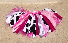 Sparkly Pink Cowgirl costume cowgirl skirt, Rhinestone cowgirl birthday Tutu, Double layer, shabby chic fabric tutu skirt - Choose your size...