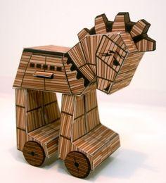 Paper Toy Trojan Horses by Brian Castleforte Handmade Home, Paper Toys, Paper Crafts, Trojan Horse, Trojan War, Rabbit Art, Greek Art, Paper Models, Art For Kids