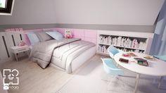 Pokój dla dziewczynki w 271 m2 domu jednorodzinnym - zdjęcie od studio_projektowe_mandala