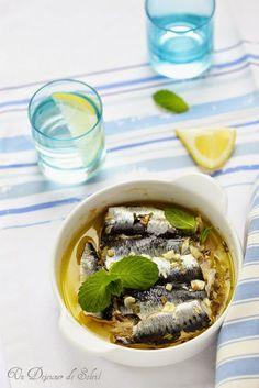 Un dejeuner de soleil: Sardines à la menthe, ail et citron comme en Sicil...