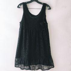For Sale: Black Crochet Mini Dress for $4