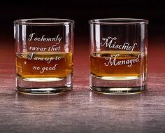 Celebrate the wizarding world with this two pack of 3.75 inch tall glasses featuring key quotations. For all wizarding fans! Set of 2 quality 10.25 oz old fashioned glass.