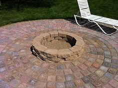 Home Dzine   DIY Weekend Patio And Firepit