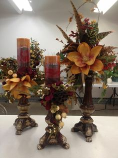 Inspire - Home Blumenarrangements - Candle Arrangements, Fall Floral Arrangements, Floral Centerpieces, Christmas Centerpieces, Thanksgiving Decorations, Christmas Decorations, Holiday Decor, Tuscany Decor, Tuscan Decorating