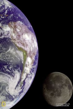 Galileo uzay aracı, Jüpiter'i keşfetmek için çıktığı yolculukta Dünya ve Ay'ın fotoğraflarını çekti. (Fotoğraf: NASA)