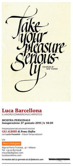 Luca Barcellona  Take your pleasure seriously!