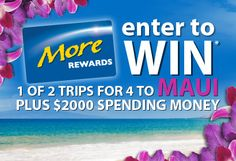More Rewards - Alaska Airlines Maui, Hawaii Contest - Ends December 31th, 2012 - Canada