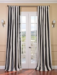 Best Value And Compare Price For Half Drapes Presidio Faux Silk Taffeta Stripe Curtain Select The You Need Buy Online Here Save