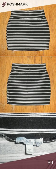 Striped Charlotte Russe body con skirt Used Charlotte Russe skirt size large Feel free to ask questions! Open to offers!!! Charlotte Russe Skirts