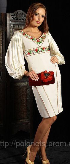 Ukrainian dress and clutch