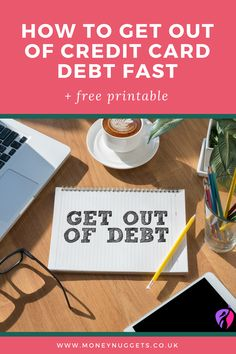 How do I get out of credit card debt? This step by step guide will should you how to get out of credit card debt fast so you can enjoy the financial freedom you deserve.
