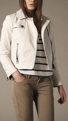 white leather burberry jacket. 100% added to wishlist.