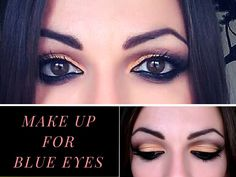 MAKE UP blue eyes - tutorial -