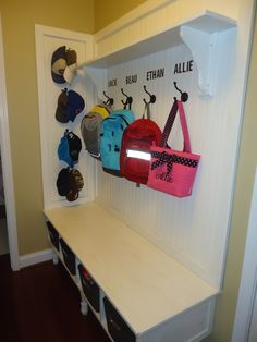 1000 Images About Backpack Hooks On Pinterest Mud Rooms