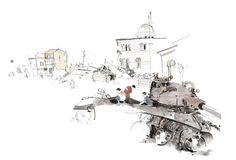George Butler is winner of the V&A Illustration Awards 2013 - News - Artists & Illustrators - Original art for sale direct from the artist Butler, Landscape Drawings, Landscapes, Urban Sketchers, Original Art For Sale, New Artists, Art World, Illustrators, Illustration Art