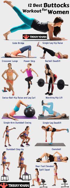 12 Best Buttocks Workout for Women - Tikkay Khan