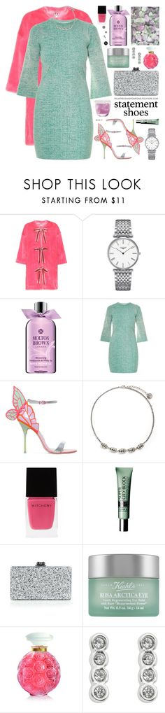"""Double Take: Statement Shoes"" by palmtreesandpompoms ❤ liked on Polyvore featuring Shrimps, Longines, Molton Brown, STELLA McCARTNEY, Sophia Webster, Anton Heunis, Witchery, Clinique, Edie Parker and Kiehl's"
