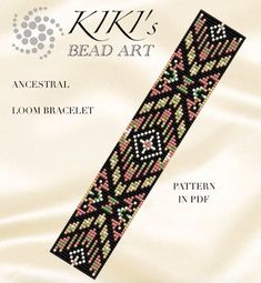 This is an own designed pattern in PDF format, downloadable directly from Etsy. This pattern is for the Aztec chic Ancestral ethnic inspired LOOM bracelet which is created for Japanese size 11 delica beads. The pdf file includes: 1. a large picture of the pattern 2. a large, detailed