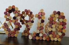 Wine Cork Table Numbers by BlissbyKdesigns on Etsy