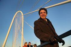 Architect Santiago Calatrava on his newest creation Margaret Hunt Hill Bridge, Dallas, TEXAS