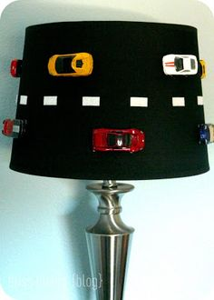 Racecar Lamp How to make - On the Road Again - Lamp Restyle  via bliss bloom blog