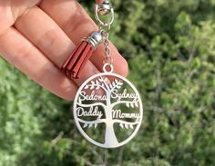 Personalized Name Keychain Tree of Life Keyring Custom Gift   Etsy Handmade Gifts For Her, Gifts For Mum, Steel Gifts, Personalized Signs, Tree Of Life, Metal Signs, Customized Gifts, Wedding Gifts, Etsy