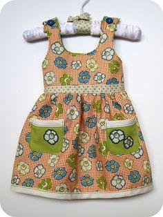 Dress/jumper tutorial for first month newborn, PDF pattern + tutorial