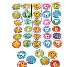 TOPSELLER! Dental Roll Sticker Assortment, 5 Rol... $5.99