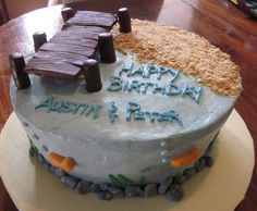 fishing birthday cake I did last summer
