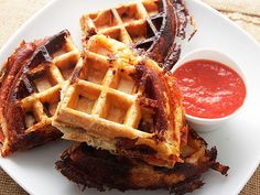 Crisp, Flaky, Pepperoni Pizza Puff Pastry Waffles (Are Awesome)