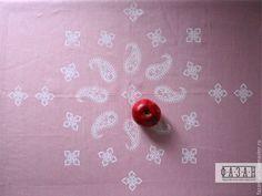 Мастер-класс: верховая набойка льняной скатерти - Ярмарка Мастеров - ручная работа, handmade