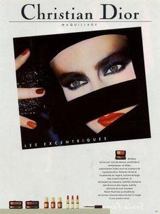 vintage makeup ad | Christian Dior (Cosmetics) 1985 Lipstick Nail Polish