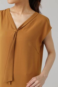 《B ability》PEサテンボウタイブラウス | ブラウス・シャツ | BOSCH(ボッシュ)のファッション通販MIX.Tokyo Western Tops, Casual Tops For Women, T Shirts For Women, Clothes For Women, Shirt Blouses, Blouse Designs, Work Wear, Designer Dresses, Dress Outfits