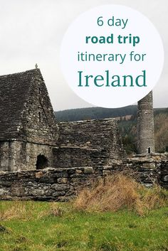 Adoration 4 Adventure's 6-day road trip itinerary for Ireland and Northern Ireland including stops in Dublin, Cork, Dingle, Cliffs of Moher, and Belfast.
