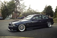 Awesome BMW e36 coupe on fantastic BBS RS (16'' centers, stepped up to 17'' )