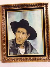 Vintage Charles Dixon Cowboy Portrait Oil Painting On Board Wood Frame Vintage Paintings, Antique Paint, Mona Lisa, Oil, Portrait, Antiques, Board, Frame, Artwork