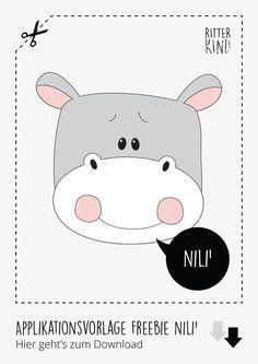 Zum Blog-Jubiläum gibt es ein neues Tutorial + 3X Freebies » Eine tierische Rasselbande an Freebies » HOPSER', RAFFI' & NILI' » Applikationsvorlagen