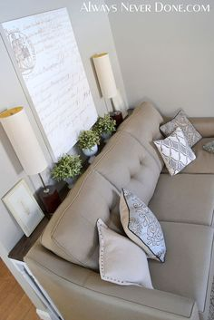 DIY+Thin+Sofa+Table