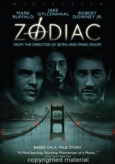 Zodiac, Directed by David Fincher and starring Jake Gyllenhaal, Mark Ruffalo and Robert Downey Jr. Streaming Movies, Hd Movies, Horror Movies, Movies To Watch, Movies Online, Movies And Tv Shows, Suspense Movies, David Fincher, Films Cinema
